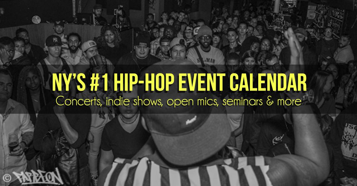 New York hip hop concert and event calendar