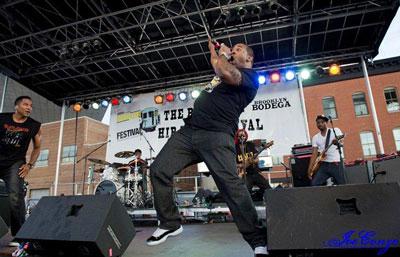 Busta Rhymes, Q-Tip at the 2011 Brooklyn Hip-Hop Festival (Photo Credit: Joe Conzo)