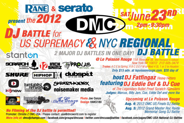 DMC DJ Battles - NYC Regional & US Supremacy at Le Possion Rouge