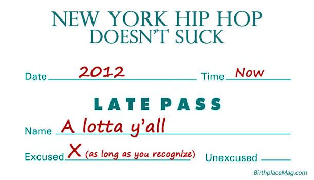 New York Hip Hop Back - Late Pass