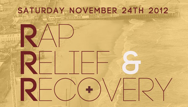 Rap, Relief & Recovery - November 24 at the Sidewalk Cafe