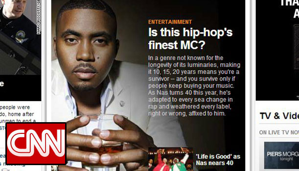 Nas Featured on CNN