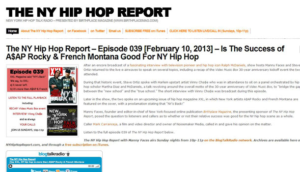 The NY Hip Hop Report - New York hip hop talk radio
