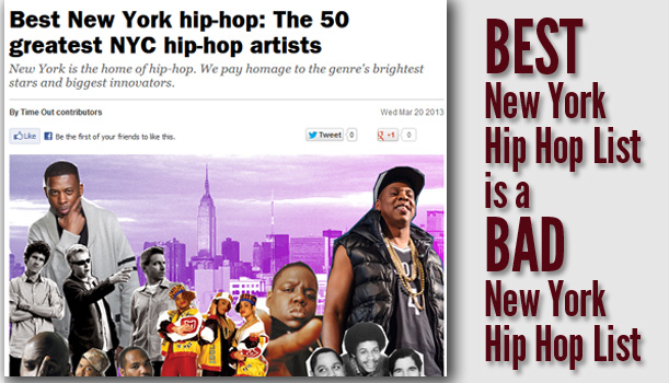 Best New York Hip Hop List is a Bad New York Hip Hop List