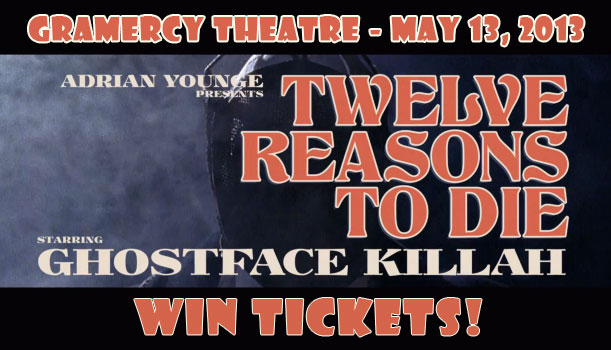 Adrian Younge - Ghostface Killah - 12 Reasons to Die Tour, Gramercy Theatre, NYC - Win tickets
