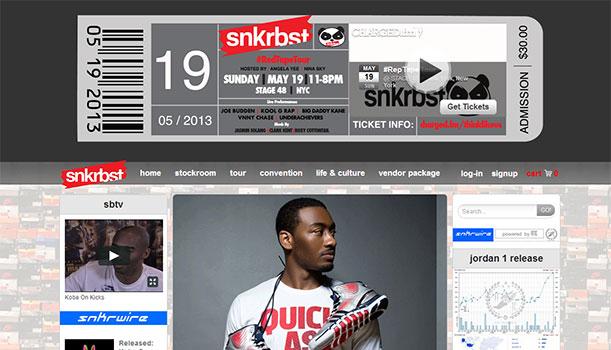 Snkrbst website - Sneaker expos, #RedTapeTour