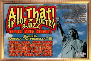 ALL THAT! Hip hop, poetry & jazz - Open mic night @ Nuyorican Poets Cafe | New York | New York | United States
