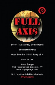 Full Axis 90s Dance Party (@FullAxisDJs) @ Hope Garage | New York | United States