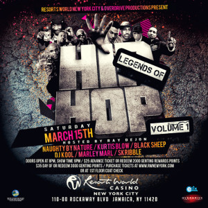 Legends of Hip Hop Vol. 1 at @ResortsWorldNYC @ Resorts World Casino New York City | New York | United States