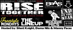 Rise Together! NYC's Hip Hop Scene Takes Over! @ littlefield | New York | United States