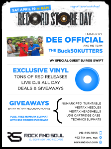 Celebrate @RecordStoreDay All Day at NYC's @DJRockandSoul @ Rock And Soul | New York | New York | United States