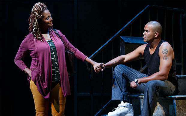 Tonya Pinkins as Mrs. Weston and Christopher Jackson as Vertus (Photo: Joan Marcus)