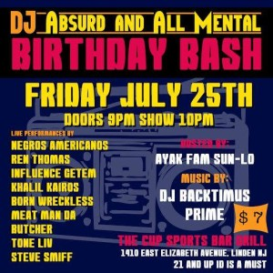 @DJ_Absurd & @AllMental Birthday Bash @ The Sports Cup Bar & Grill | Linden | New Jersey | United States