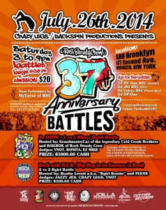 "Rock Steady Crew Anniversary 2014 ""Battles"" at SRB (@CrazyLegsRSC @SRBBrooklyn) @ SRB Brooklyn 