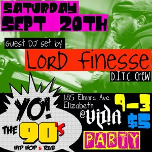YO! The 90's Party w/ @LordFinesseDITC! (@YoThe90s) #YoThe90s @ Vida  | Elizabeth | New Jersey | United States