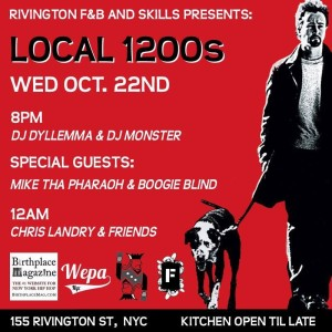 Local 1200's CMJ Week Edition at @RivingtonFB (@Local1200s, #LOCAL1200s) @ Rivington F+B | New York | New York | United States