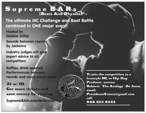 Supreme BARs : The Ultimate MC Challenge & Beat Battle @ Black Bear Bar | New York | United States