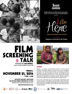I Am Here: Girls Reclaiming Safe Spaces - Film screening & talk - Hosted by @LisaRussellFilm @ Restoration Plaza: Skylight Gallery | New York | United States