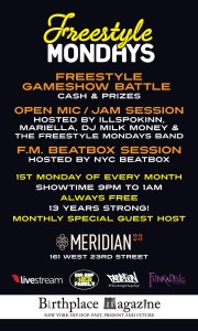 Freestyle Mondays Gameshow Battle & Open Mic (@FStyleMondays at @Meridian23NYC) @ Meridian 23  | New York | New York | United States