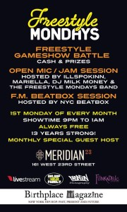 Freestyle Mondays! (@FStyleMondaysNY) - March Edition at @Meridian23NYC @ Meridian 23 | New York | New York | United States