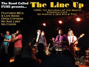 The Line Up with Silent Knight and The @BandCalledFUSE at @SidewalkNY @ Sidewalk Cafe | New York | New York | United States