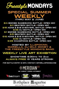 Freestyle Mondays (@FstyleMondaysNY) SummerFest WEEKLY !! @ Meridian 23 | New York | New York | United States