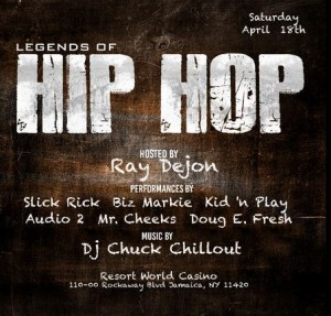 Legends of Hip Hop Concert at @ResortsWorldNYC w/@realDougEFresh, Slick Rick, @BizMarkie & more @ Resorts World Casino | New York | United States