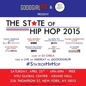 The #StateofHipHop 2015 Panel Discussion at NYU @ NYU Global Center, Grand Hall | New York | New York | United States