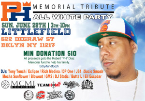 "PH Pumpkinhead Tribute ""All White Memorial Party"" #RIPPH @ Littlefield 