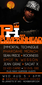 PH aka Pumpkinhead Memorial Tribute Concert @ Santos Party House | New York | New York | United States