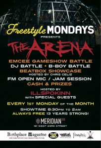 Freestyle Mondays Oct. Edition (Bye Bye @iLLspokinn) (@FstyleMondaysNY) @ Meridian 23 | New York | New York | United States