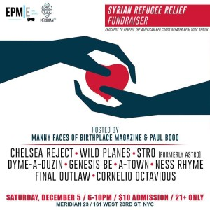 Syrian Refugee Relief Fundraiser: Hosted by @MannyFaces of @BirthplaceMag - Presented by @EPMevents @ Meridian 23 | New York | New York | United States
