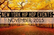 New York hip hop events - November 2015